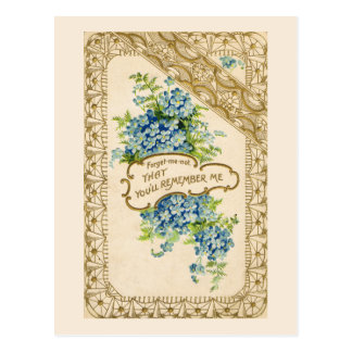 Vintage Forget-Me-Not Postcard