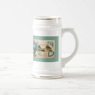 Vintage Forget-me-nots Valentine Beer Stein