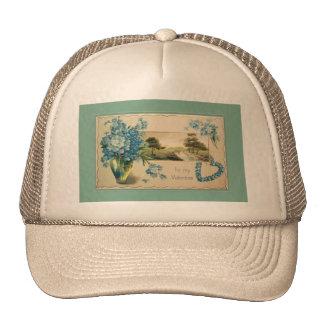 Vintage Forget-me-nots Valentine Trucker Hat