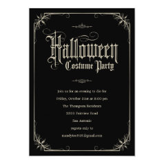 Vintage Formal Halloween Costume Party Invitations