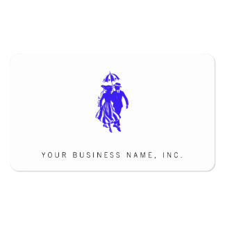 Vintage Formal Man & Woman with Parasol Business Card