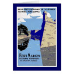 Vintage Fort Marion National Monument Poster Greeting Card