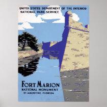 Vintage Fort Marion National Monument St Augustine