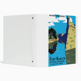 Vintage Fort Marion National Monument WPA Poster 3 Ring Binder