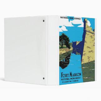 Vintage Fort Marion National Monument WPA Poster Binder