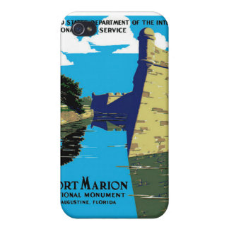 Vintage Fort Marion National Monument WPA Poster Case For iPhone 4