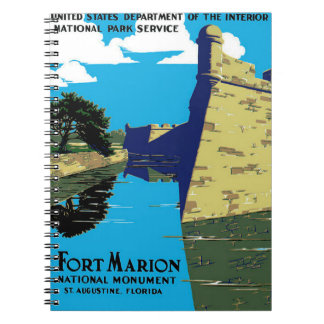 Vintage Fort Marion National Monument WPA Poster Note Book