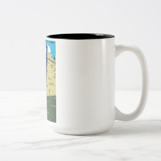 Vintage Fort Marion National Monument WPA Poster Two-Tone Coffee Mug