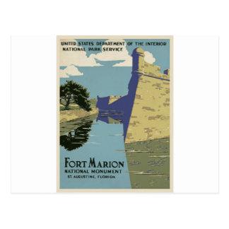 Vintage Fort Marion Postcard