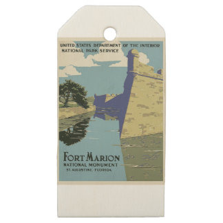 Vintage Fort Marion Wooden Gift Tags