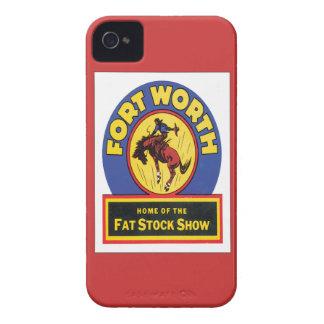 Vintage Fort Worth, Tejas Case-Mate iPhone 4 Cárcasas