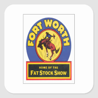 Vintage Fort Worth ,Texas Square Stickers