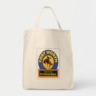 Vintage Fort Worth ,Texas Tote Bag