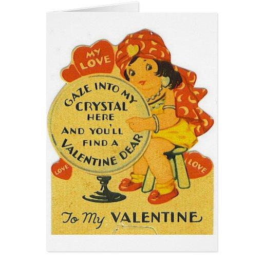 Vintage Fortune Teller Valentine's Day Card