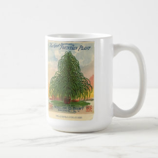 Vintage Fountain Plant Garden Seed Packet - Mug