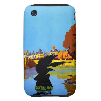 Vintage Fountainebleau France Travel Poster Tough iPhone 3 Cases