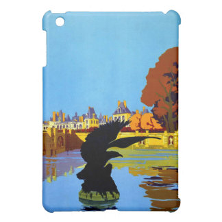 Vintage Fountainebleau France Travel Poster Case For The iPad Mini