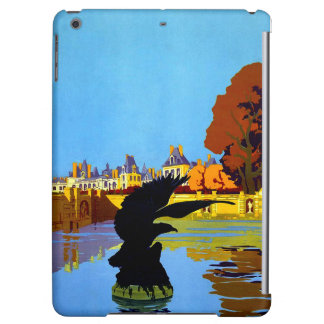 Vintage Fountainebleau France Travel Poster iPad Air Covers