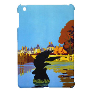 Vintage Fountainebleau France Travel Poster iPad Mini Cover