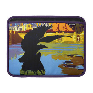 Vintage Fountainebleau France Travel Poster MacBook Sleeves