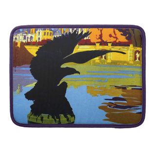 Vintage Fountainebleau France Travel Poster MacBook Pro Sleeves