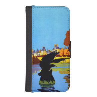 Vintage Fountainebleau France Travel Poster Phone Wallet Case