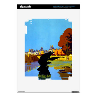 Vintage Fountainebleau France Travel Poster Decal For iPad 3