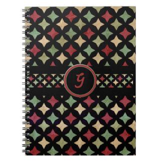 Vintage Four Point Star Notebook