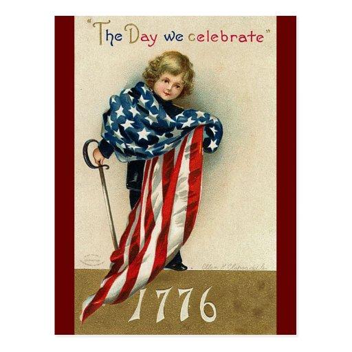 Vintage Fourth of July Celebration Post Cards