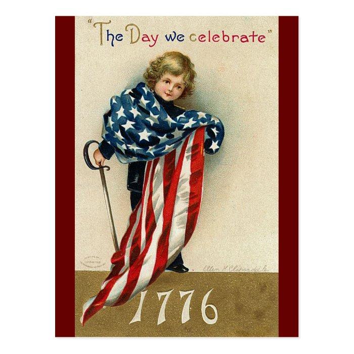 Vintage Fourth of July Celebration Postcard