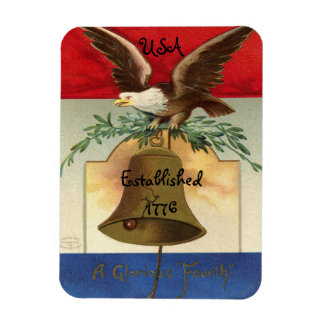 Vintage Fourth Of July Eagle Rectangular Photo Magnet