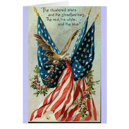 card fourth july post vintage
