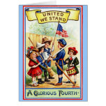 Vintage Fourth of July Notecard Card