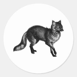 Vintage Fox Classic Round Sticker