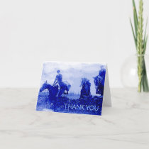 Vintage Fox Hunt Thank You Note Card