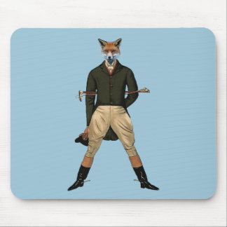 Vintage fox Hunting Mouse Pad