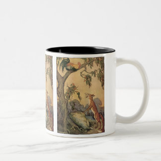 Vintage Fox the Cock and the Dog Aesop s Fable Mugs