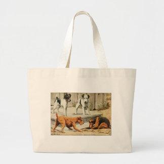 Vintage Fox, Wire Fox, Welsh, and Irish Terriers Jumbo Tote Bag