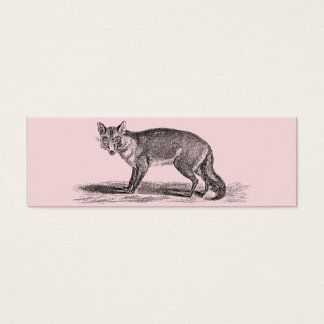 Vintage Foxy Fox Illustration - 1800's Foxes Mini Business Card