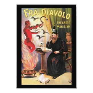 """Vintage Fra Diavolo el gran poster del mago Invitación 5"""" X 7"""""""