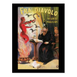 Vintage Fra Diavolo The Great Magician Poster Postcard