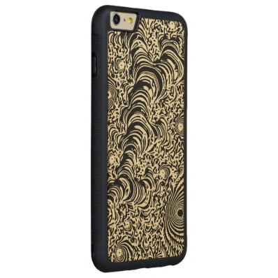 Vintage Fractal Abstract Carved® Maple iPhone 6 Plus Bumper Case