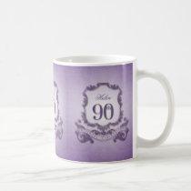Vintage Frame 90th Birthday Celebration Mug
