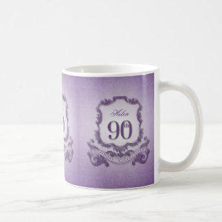 Vintage Frame 90th Birthday Celebration Mug