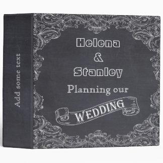 Vintage frame and chalkboard wedding planner binder
