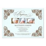 "VINTAGE FRAME  |  BAPTISM INVITATION 5"" X 7"" INVITATION CARD"