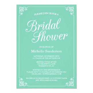 """Vintage Frame Bridal Shower 5"""" X 7"""" Invitation Card"""