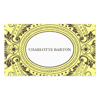 Vintage Frame Calling Card in Yellow and Brown Double-Sided Standard Business Cards (Pack Of 100)