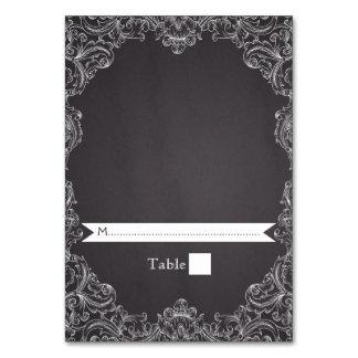 Vintage frame & chalkboard wedding place card