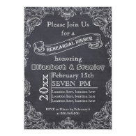 Vintage frame, chalkboard wedding rehearsal dinner 5